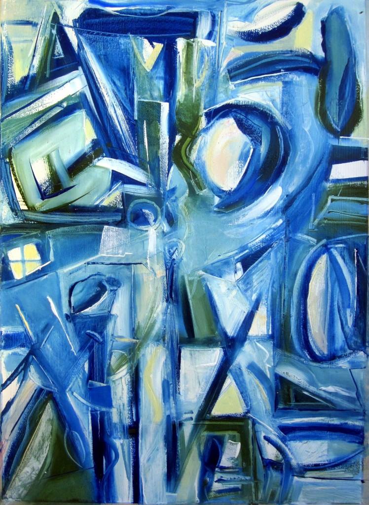 Blues Night 14×18 Oil on Paper