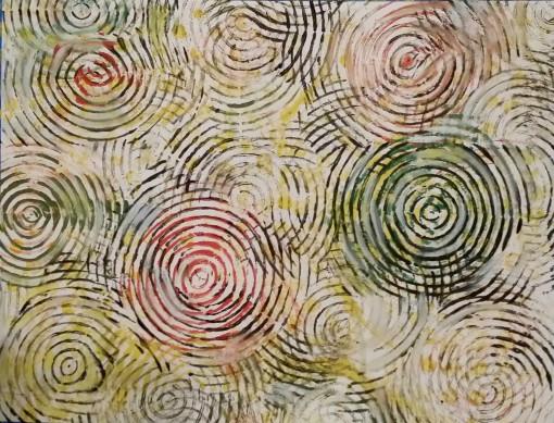 Partyswirls 11×14 Oil on Paper