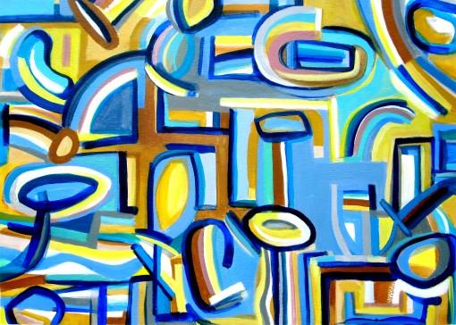 waterslide 23×30 Oil on paper
